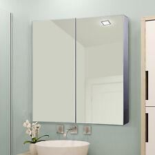 LED Spiegelschrank Badschrank Badspiegel 4W Badezimmer Edelstahl 60x60cm