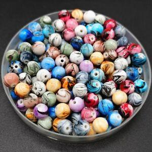 50Pcs Multicolor Loose Cloud Beads Round Shape Cute Beads Necklace DIY Jewelry
