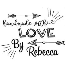 custom name arrow hand made with love by personalized self inking stamp 2""