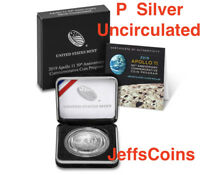 2019 P Apollo 11 50th Anniversary UNCIRCULATED Silver Dollar 1oz .999 Coin 19CD