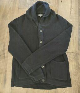 Rag & Bone Avery Shawl Collar Button Up Cardigan Navy Blue Cotton Pockets Men XL