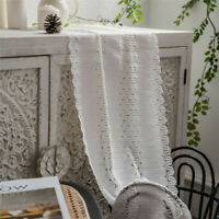 Vintage White Lace Table Runner Tablecloth Cover Dining Wedding Party Home Decor