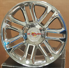 "22"" Wheels & Tires Cadillac Escalade Platinum Style Chrome Rims EXT ESV 24 22"