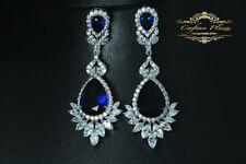 Ohrhänger Luxury Ohrringe Zirkonia AAA Swarovski Kristalle STELLUX™ Weissgold