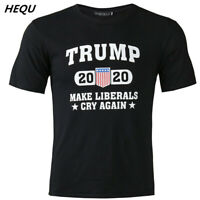 Donald Trump 2020 MAKE LIBERALS CRY AGAIN Political Elections T-Shirt Mens Tees