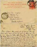 GB to CAPE AFRICA 1893 CECIL RHODES GRAHAMSTOWN QV STATIONERY PHILATELIC MESSAGE