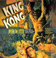 King Kong 1933 Vintage Movie Poster Rolled Canvas Print 24x25 in.
