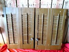 2 pair Interior Wood Plantation Wood brown Bi Fold Louver Shutters