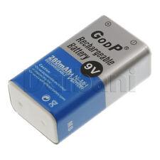 GODP 9V 280MAH New 9-Volt Rechargeable Battery Ni-MH 9V 280 mAh