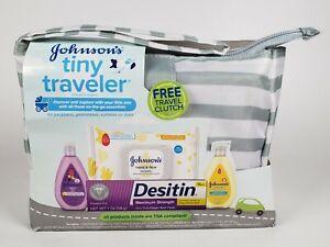 Johnson's Tiny Traveler Baby Infant Care Travel Kit Clutch Wipes Desitin Lotion