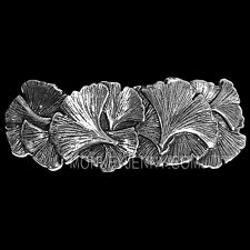 Ginkgo Leaves Pewter Barrette Hair Clip by Oberon Design COMBINED SHIPPING