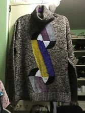 NWT Marco de Vincenzo Turtleneck Colorblocked Sweater $770