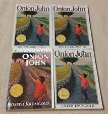Lot of 4 ONION JOHN Chapter Books JOSEPH KRUMGOLD Guided Reading Teacher NEWBERY