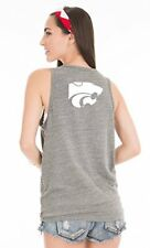 Ncaa Kansas State Wildcats Women's Tyger Flag Pocket Tank Top, X-Large, Tri-Grey