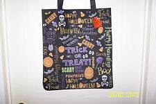 Nwt Trick Or Treat Halloween Large Candy Tote Bag Boo! Skull & CrossBones