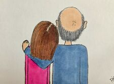 """ACEO ORIGINAL By PJR Miniature """"Missing My Daddy"""" Dad Father Christmas Grief"""