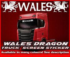Pantalla de viento de Gales Camión Camión Pegatina de cristal de la ventana de cabina ambiente MAN DAF Scania Iveco