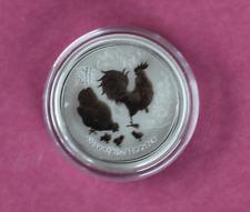 2017 1/2oz .999 Silver Lunar Rooster Bullion Coin Perth Mint