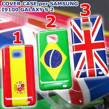 cover case custodia per SAMSUNG i9100 GALAXY S 2 inghilterra UK brasile spagna