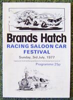 BRANDS HATCH RACING SALOON CAR FESTIVAL PROGRAMME 3 JUL 1977