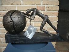 """Casablanca Design Skulptur """"Heavy Ball"""" bronce auf Sockel Sofort Art.-Nr.  59598"""