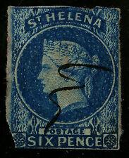 St Helena   1856   Scott # 1   USED - Clipped Corner