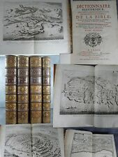 Calmet dictionnaire de la bible Grand papier grand in folio gravures et cartes