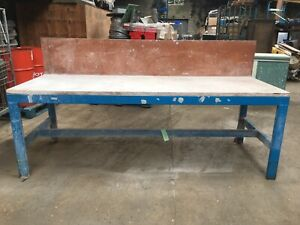 STEEL FRAMED WORKBENCH WITH LIP AT THE BACK (5363)
