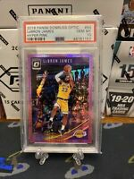 LeBron James Optic Hyper Pink PSA 10 📈📈Los Angeles Lakers Jersey Rookie Card