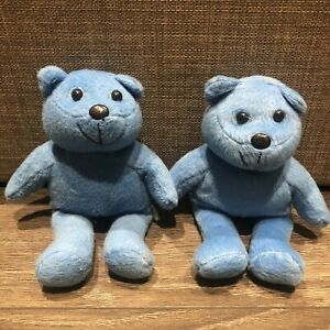 Pair Of Beanie Bear Style Soft Toys