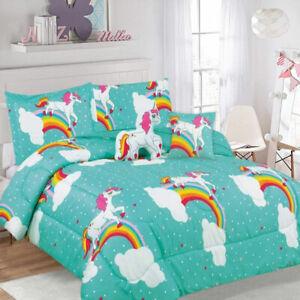 5 Piece Kids Comforter Set Unicorn by Ramesses