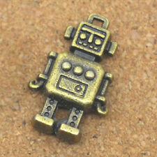 30x retro style Robot charms,3D robot charm,cute charms for DIY,bronze color