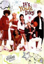 Disney Happy Birthday High School Musical Show Hallmark Card & Stickers