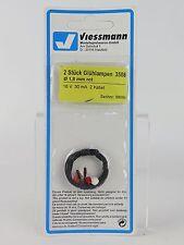 3508 VIESSMANN ECHELLE H0 ampoule 1,8MM. 3U. ROUGE/Pièce de rechange Ampoule