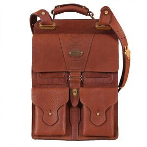 Dispatch Briefcase Brown Leather Bag Laptop Adjusting Shoulder Strap USA Made