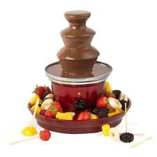 3 Tier Stainless Steel Red 90W Chocolate Fountain Fruit Tray Thermostat