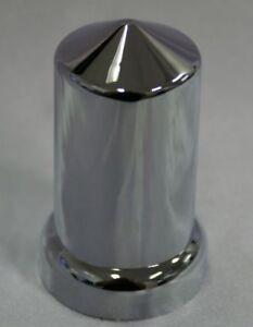Wheel nut Cover 33mm Pointed chrome plastic Kenworth,Freightliner,Western star