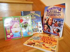 Science Wizardry Experiments Projects Set 5 Books summer fun! *free shipping!*
