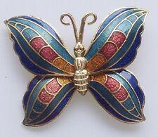broche rétro papillon tout émail de couleur cloisonné base couleur or 550