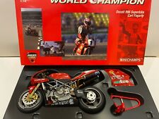 Signed - Minichamps 1:12 - Carl Fogarty - 1999 Ducati 996 - World Champion