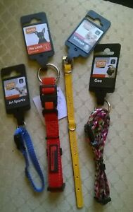 NEW WITH TAG. JOBLOT BUNDLE 4  KARLIE DOG COLLARS SIZES XS & SMALL. CHARITY SALE