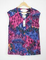 *New* ROCKMANS stretch jersey top with metal Sz L 14 16