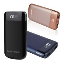 50000mah LCD Power Bank 2 USB LED Backup Pack Battery Charger For Mobile Phones