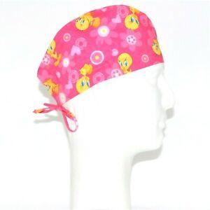 Tweety on Pink theme Scrub Hat