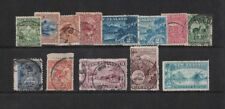 1898 New Zealand QV Pictorials issue mixed cond. 13 values toning short set used