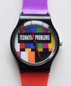 Retro 80s designer watch - New Wave TV test