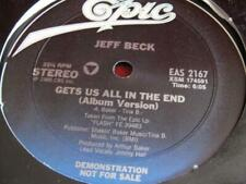 Jeff Beck Gets Us All In The End 12 inch single vinyl record blues rock guitar