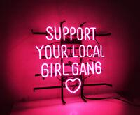"Neon Light Pink ""Support Your Local Girl"" Bar Beer Bar Internet Bar Decoration"