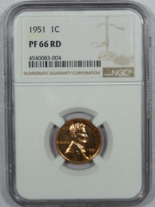 1951 PROOF LINCOLN CENT - NGC PF-66 RD