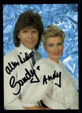 Sandy und Andy Autogrammkarte Original Signiert ## BC 43935